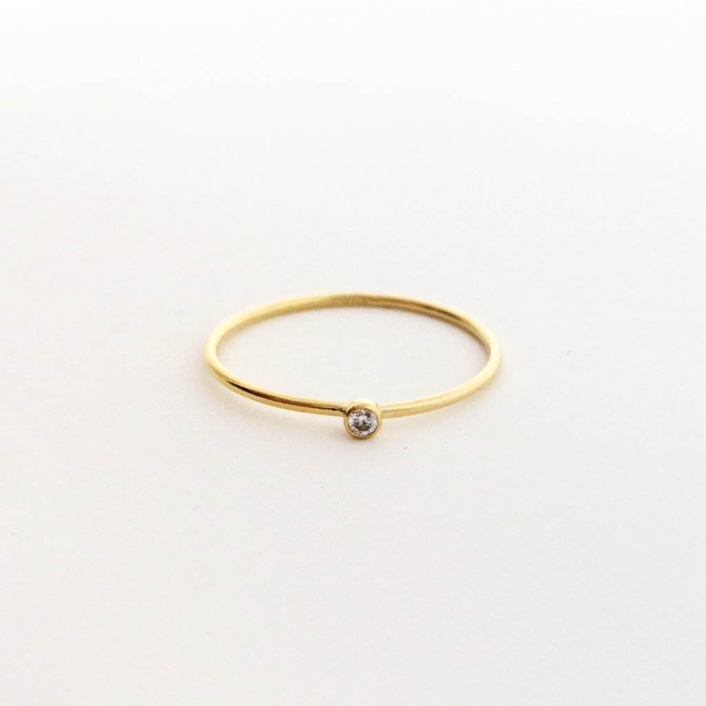 14K GOLD-FILLED CUBIC ZIRCONIA STACKING RINGS | SIZE OPTIONS