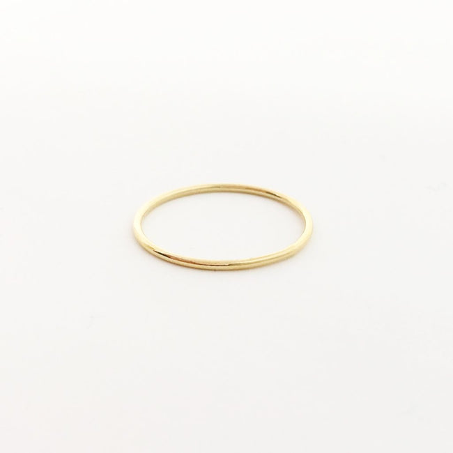 14K GOLD-FILLED SMOOTH STACKING RINGS | SIZE OPTIONS