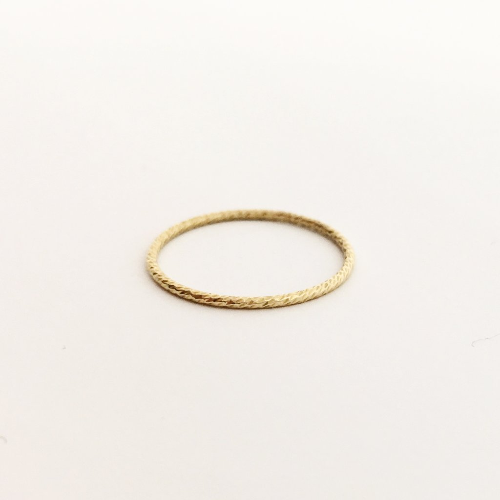 14K GOLD-FILLED TWISTED STACKING RINGS | SIZE OPTIONS