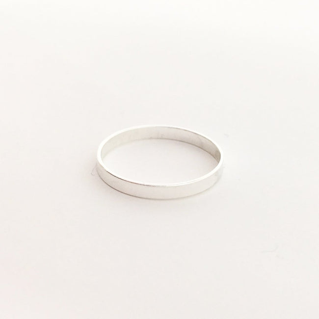 STERLING SILVER 2.25MM WIDE FLAT STACKING RINGS | SIZE OPTIONS