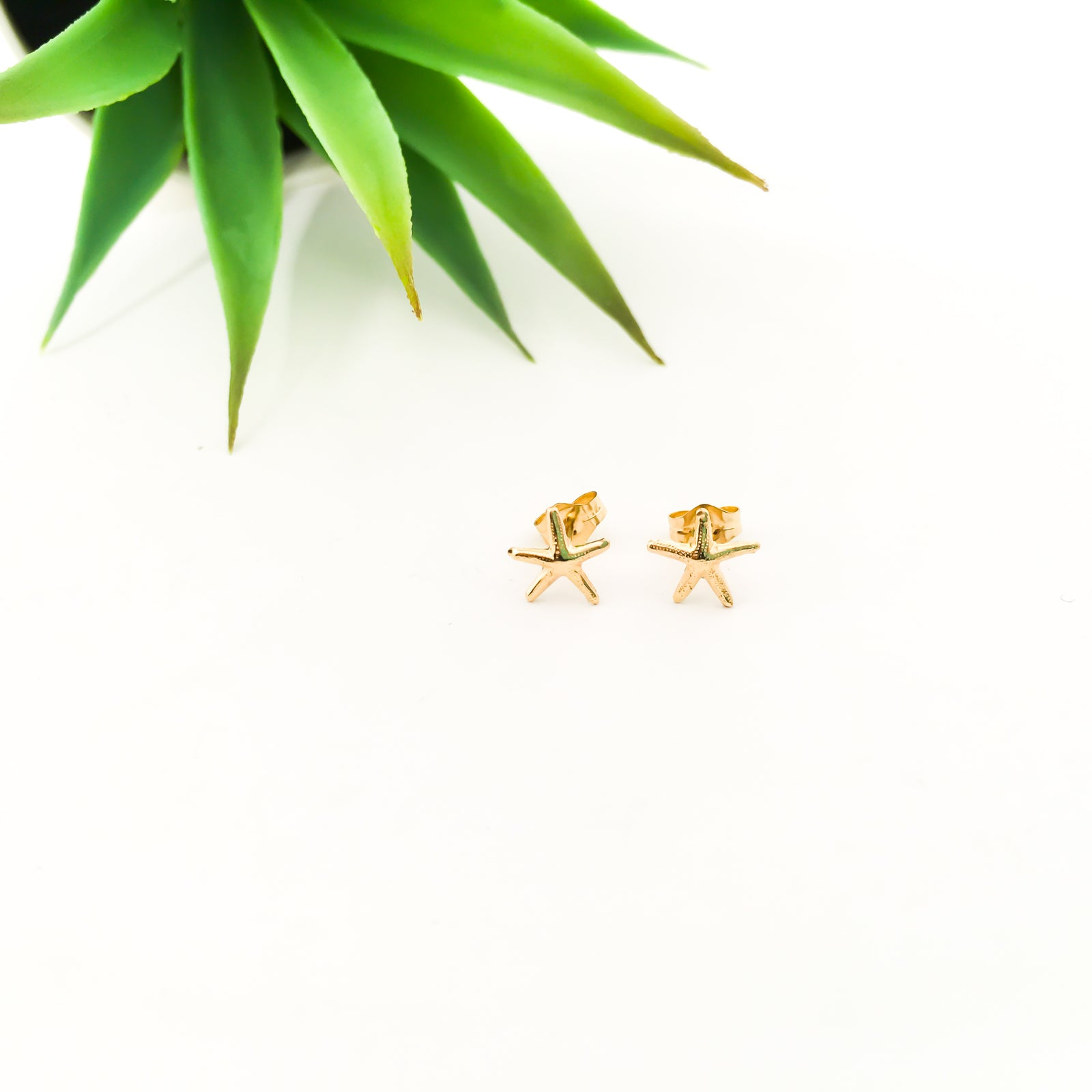 SMALL STARFISH STUD EARRINGS | 14K GOLD-FILLED