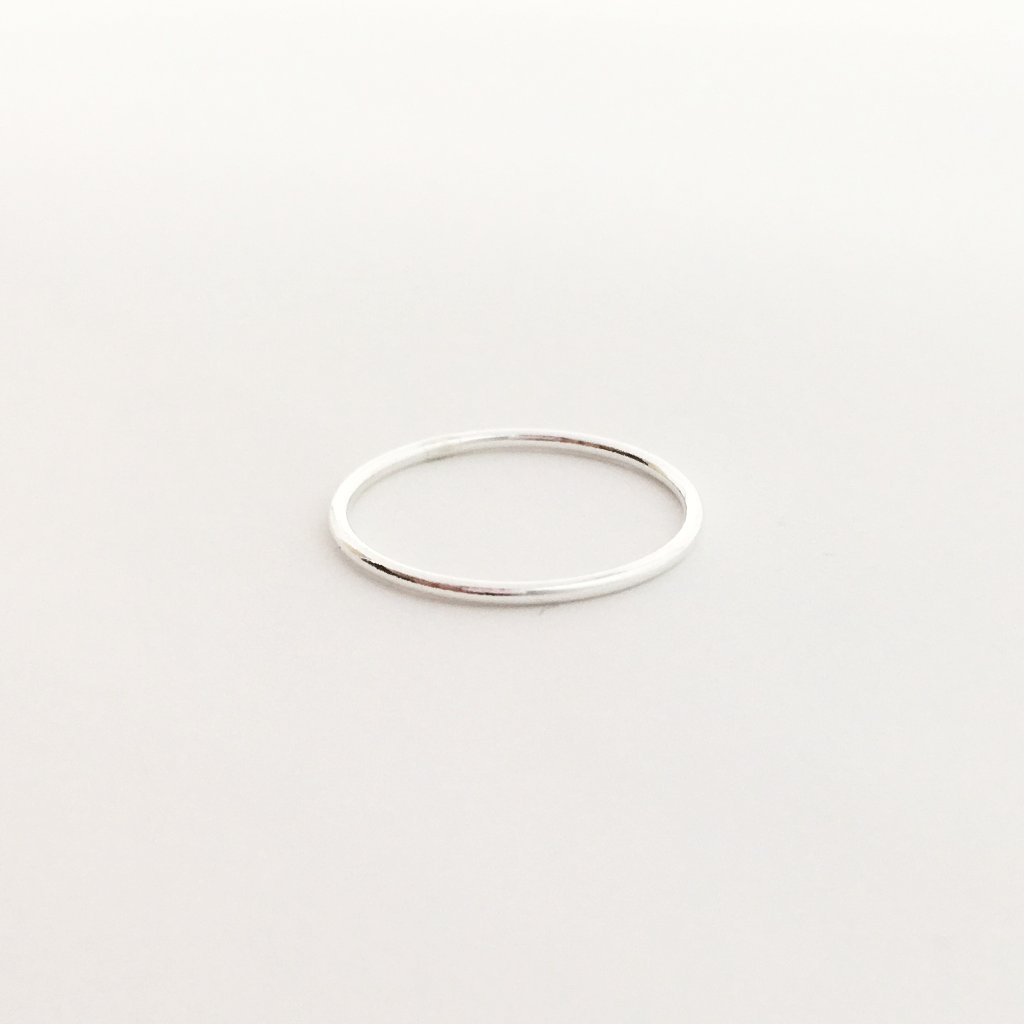 STERLING SILVER SMOOTH STACKING RINGS | SIZE OPTIONS