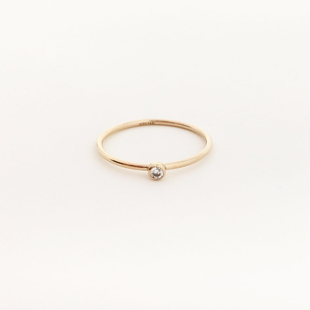 14K ROSE GOLD-FILLED CUBIC ZIRCONIA STONE RINGS | SIZE OPTIONS