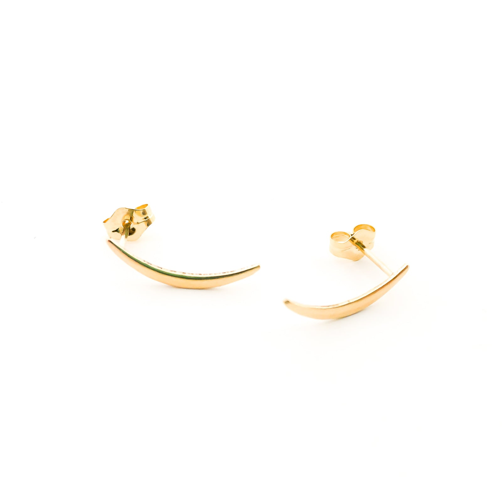 CURVED STUD EARRINGS | 14K GOLD-FILLED