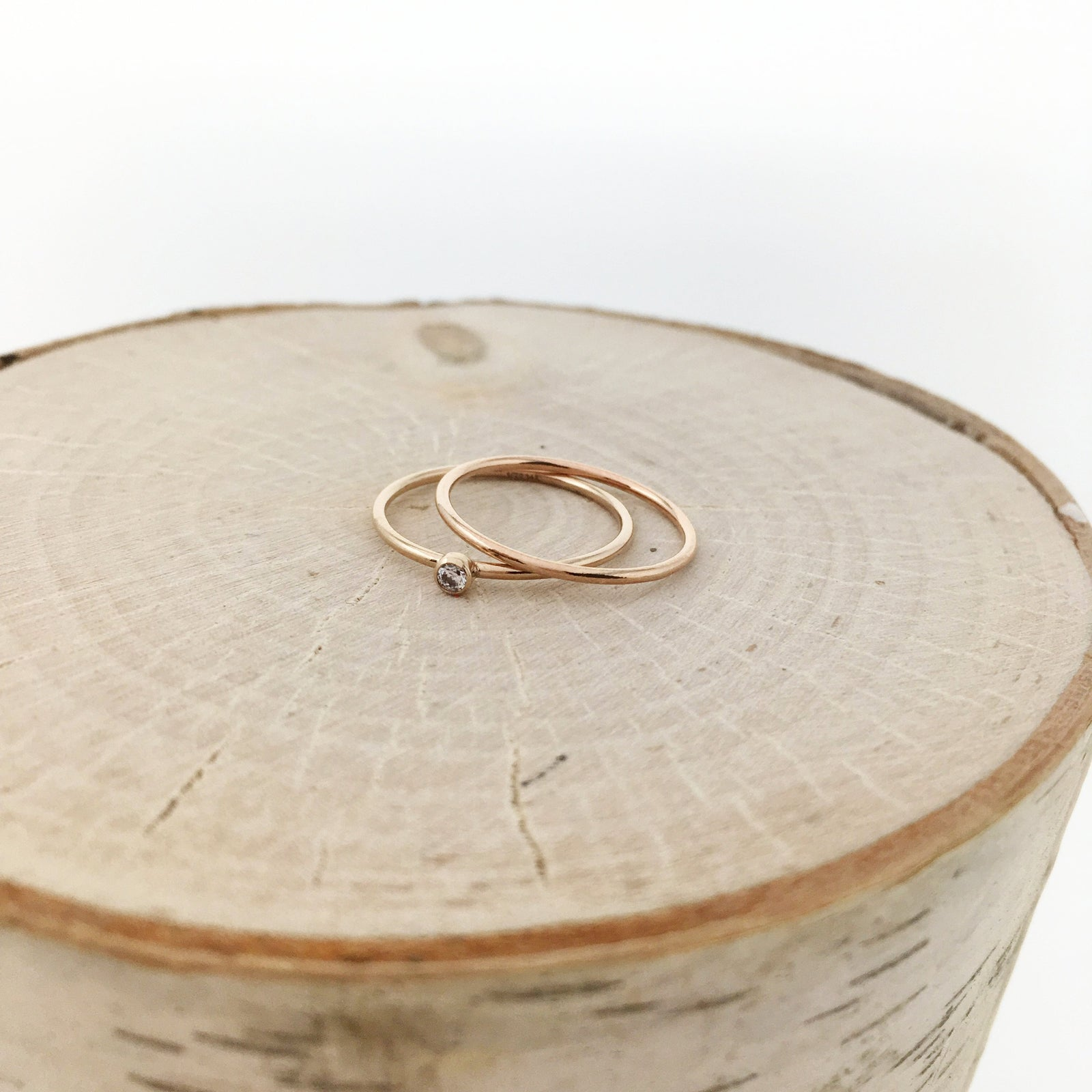 14K ROSE GOLD-FILLED SMOOTH RINGS | SIZE OPTIONS