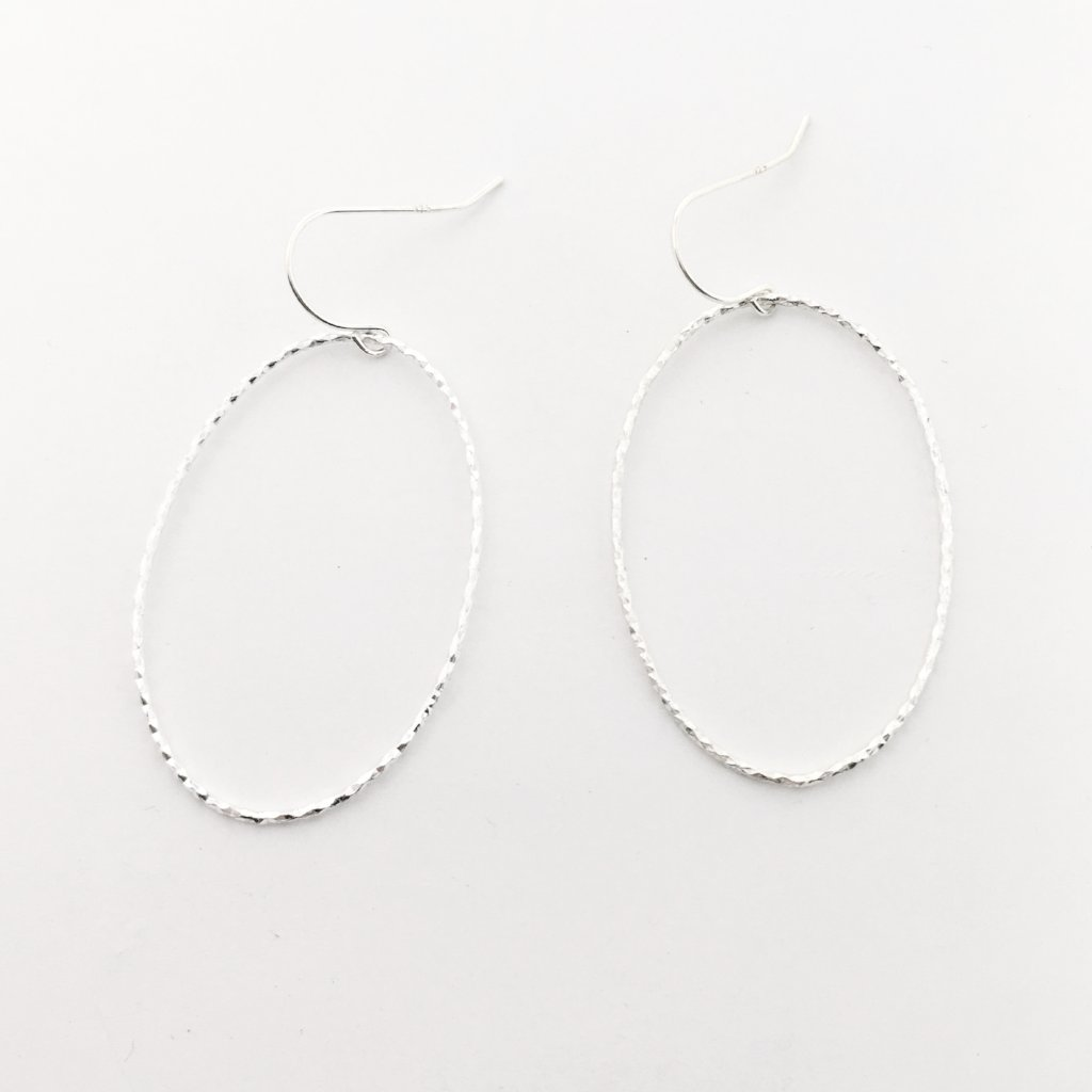 TWISTED OVAL EARRINGS | STERLING SILVER