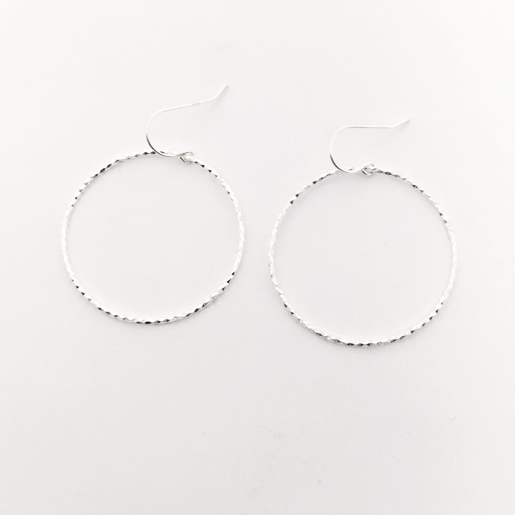 LARGE TWISTED HOOPS | STERLING SILVER