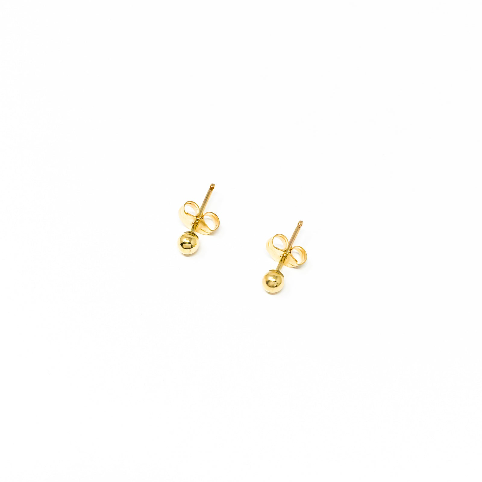 SPHERE STUD EARRINGS | 14K GOLD-FILLED | SIZE OPTIONS