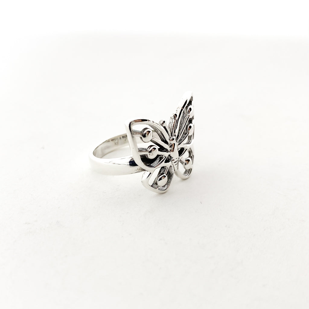 LARGE BUTTERFLY RING | STERLING SILVER | SIZE OPTIONS