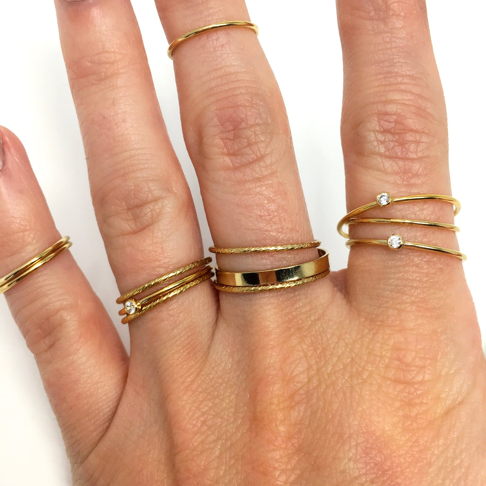 14K GOLD-FILLED 2.25MM WIDE FLAT STACKING RINGS | SIZE OPTIONS
