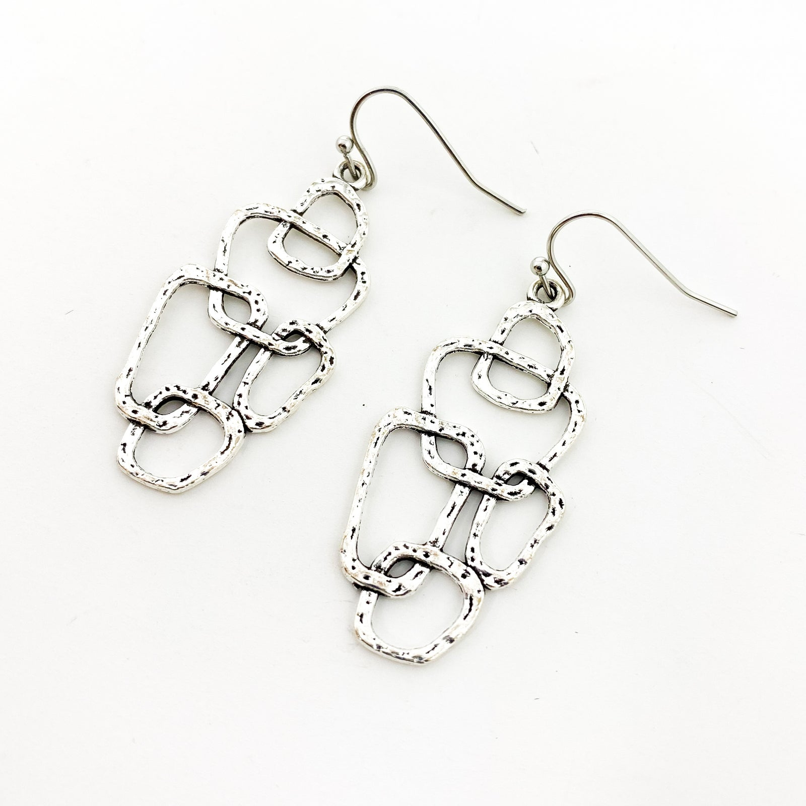 SILVER ARCHITECTURE EARRINGS