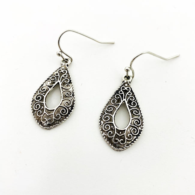 WREATH DROP EARRINGS | SILVER