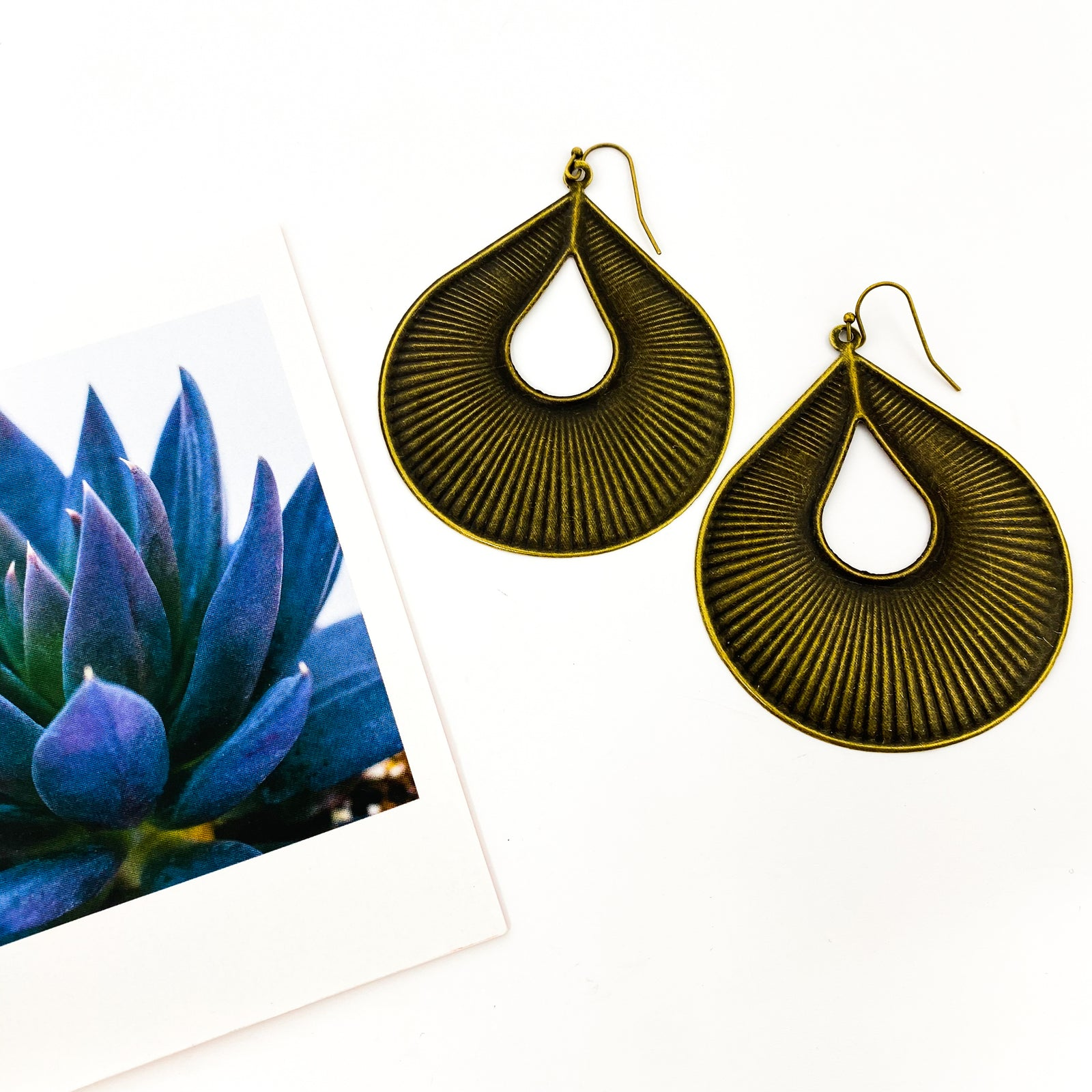 LARGE MILAN FILIGREE DROP EARRINGS | BRONZE