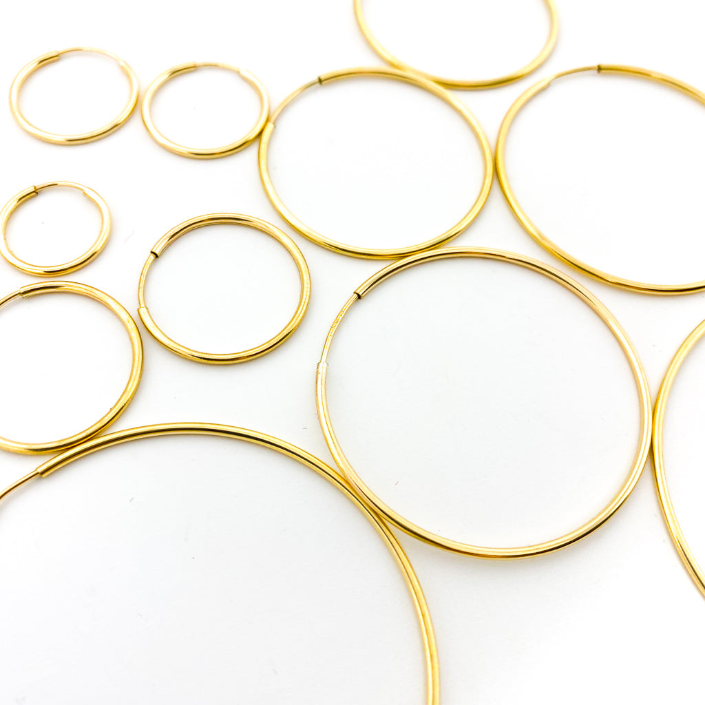 INFINITY HOOP EARRINGS | 14K GOLD-FILLED | SIZE OPTIONS