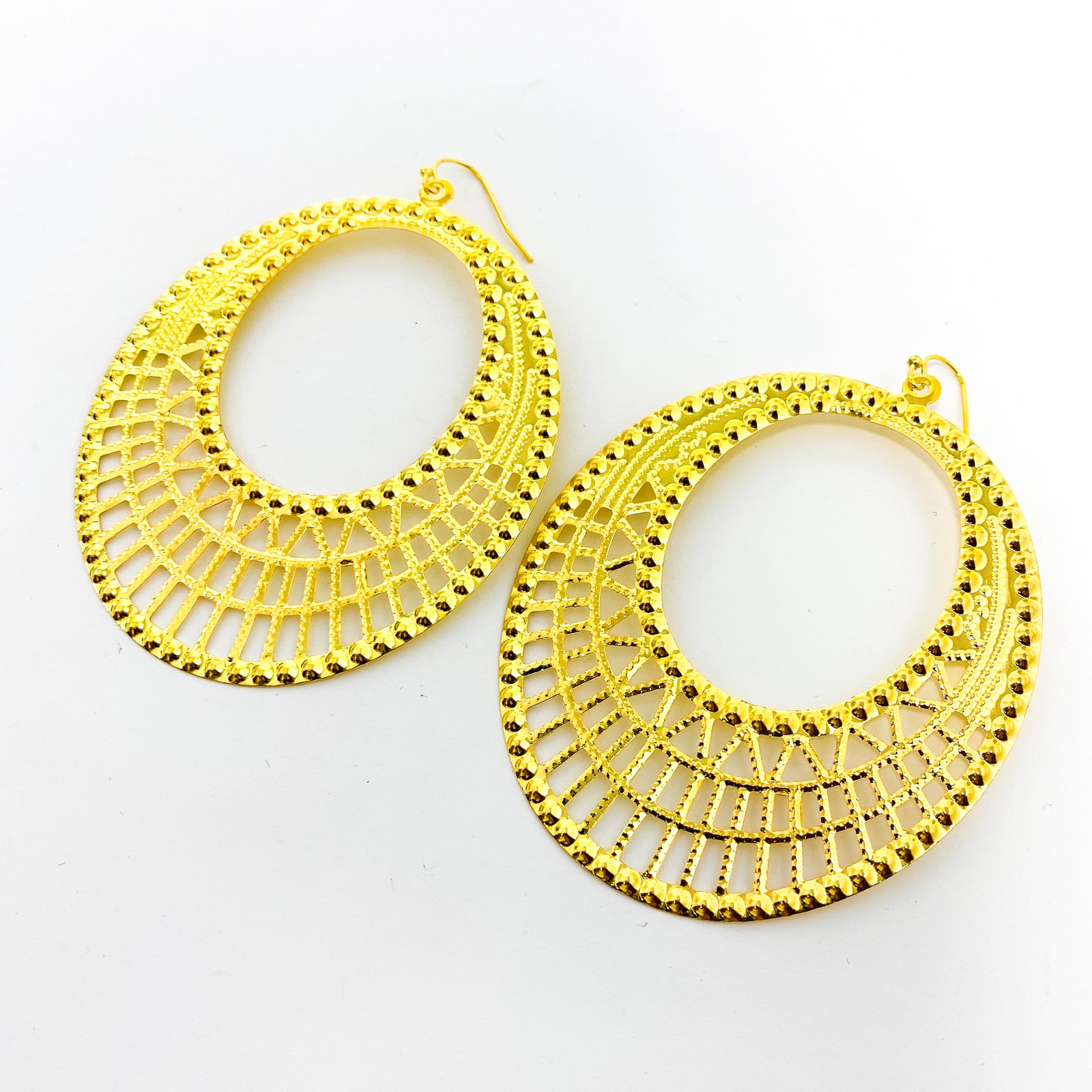 LARGE FILIGREE PATTERN HOOPS | STYLE OPTIONS