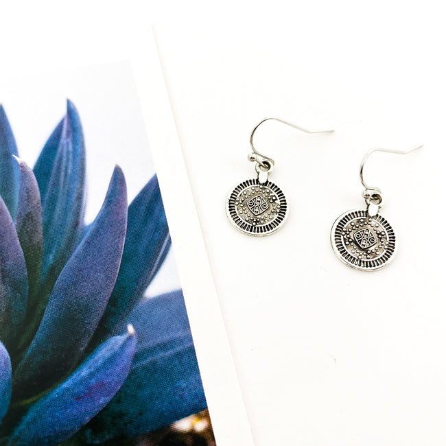 MINI MEDALLION EARRINGS | SILVER