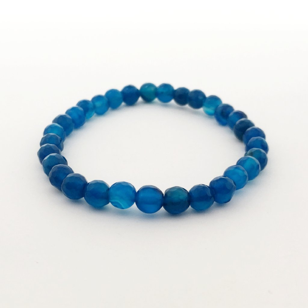 FACETED AGATE STONE BRACELETS | 6MM | SOLID COLOR OPTIONS