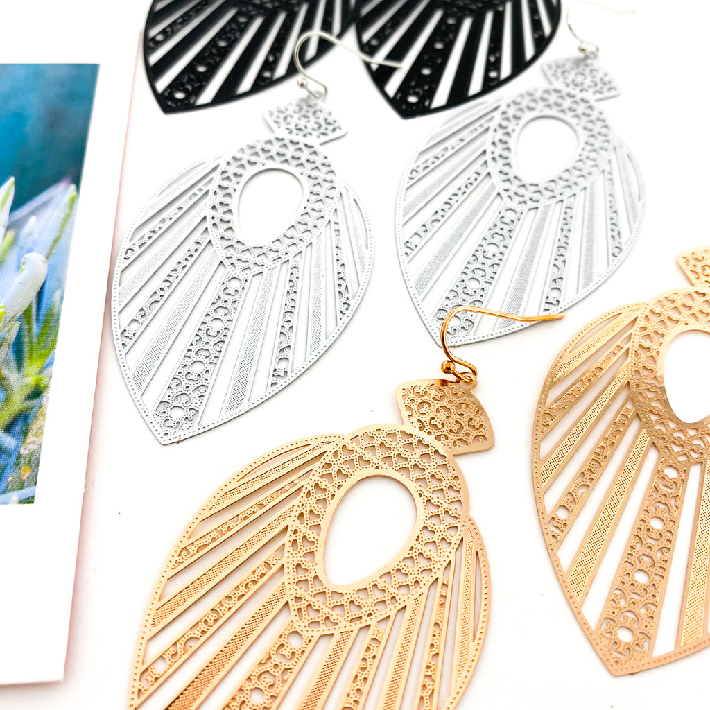 QUEEN HARPER FILIGREE DROP EARRINGS | STYLE OPTIONS