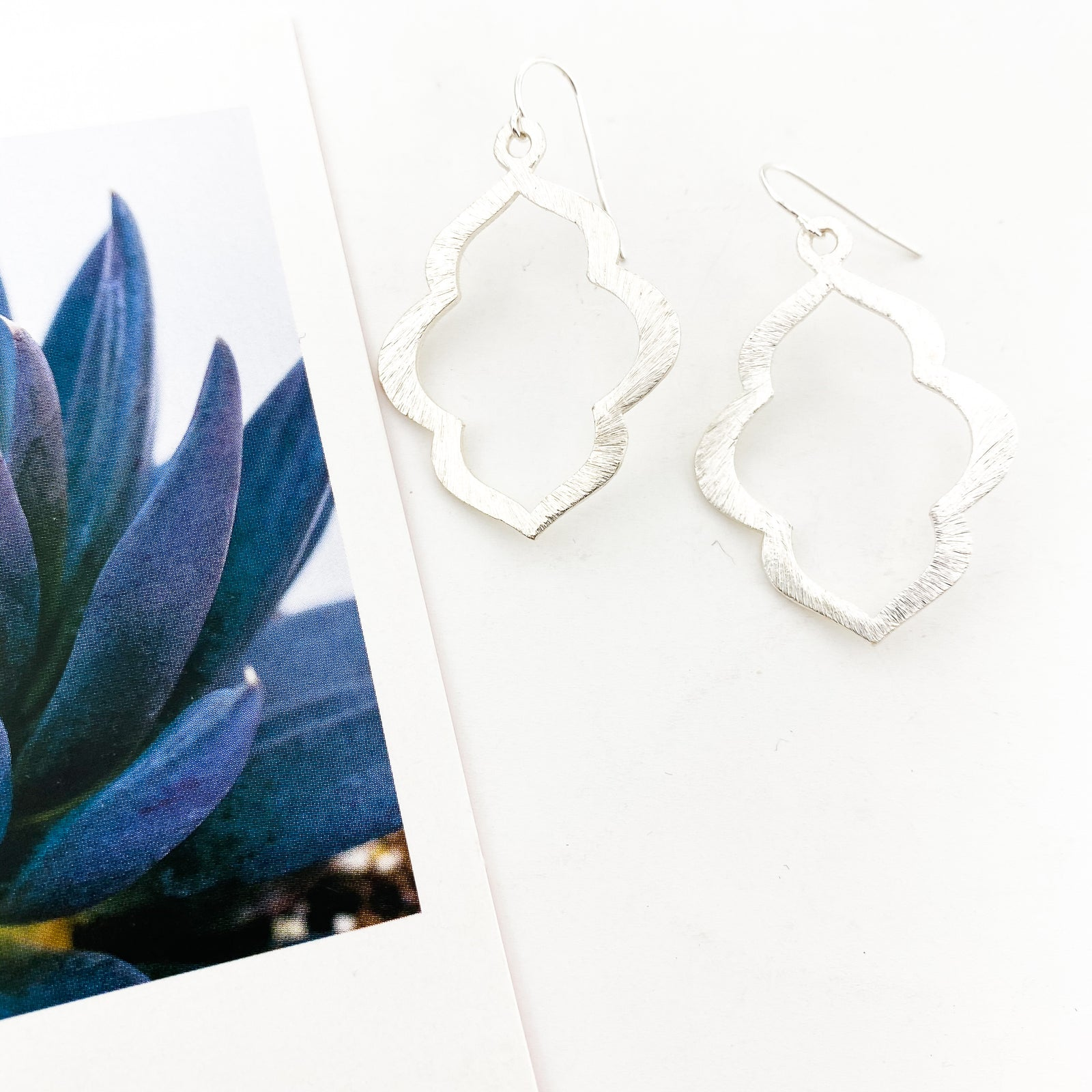 BRUSHED OGEE EARRINGS | STERLING SILVER | SIZE OPTIONS