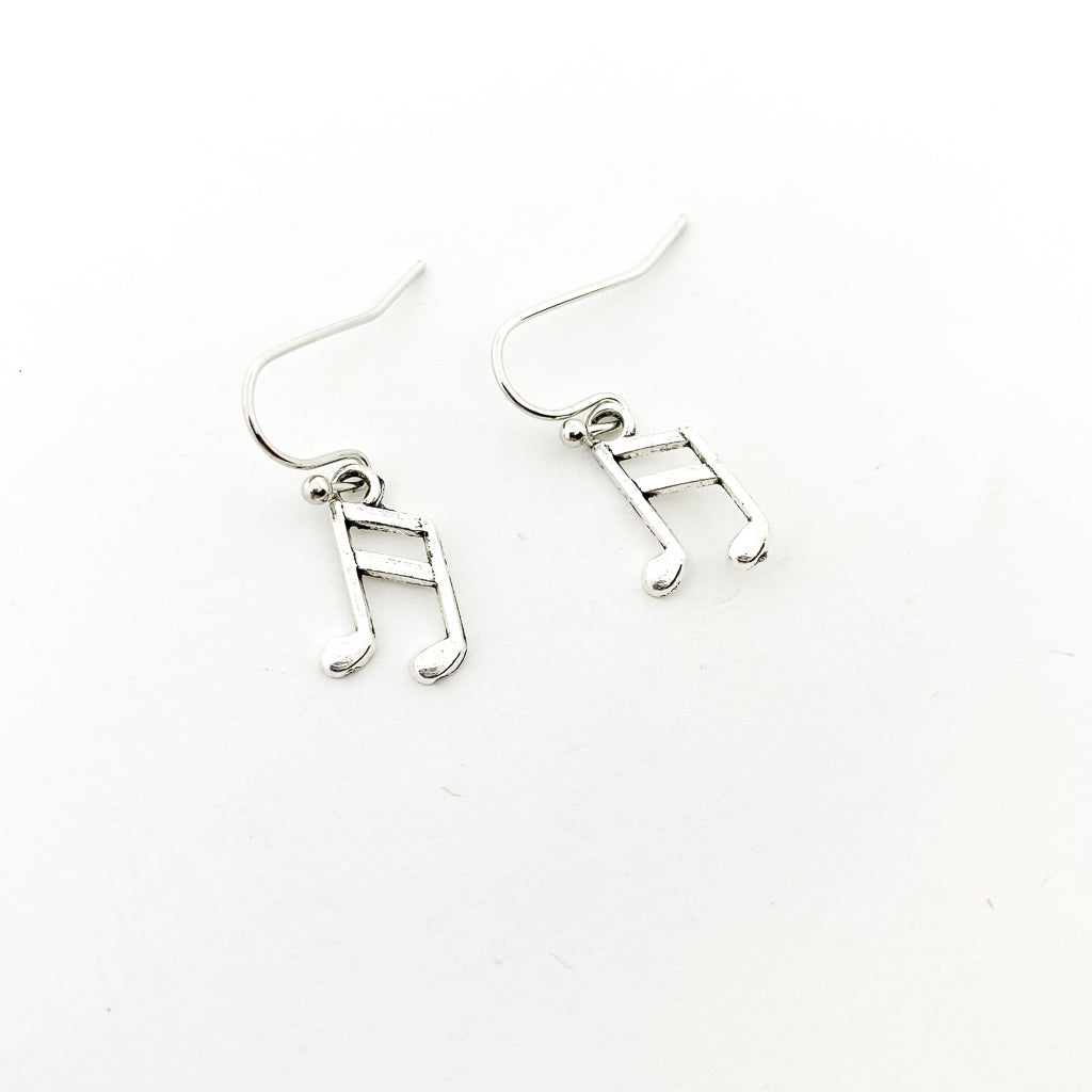MUSIC NOTE EARRINGS | SILVER