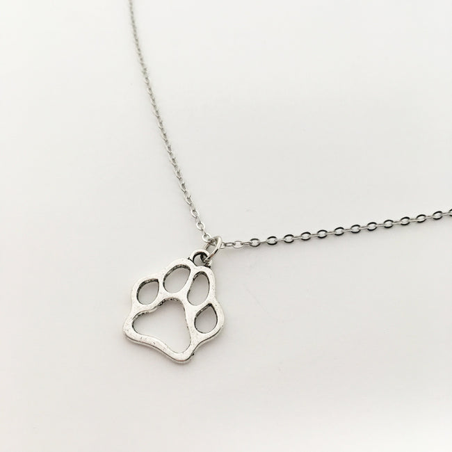 PAW PRINT NECKLACE | SILVER