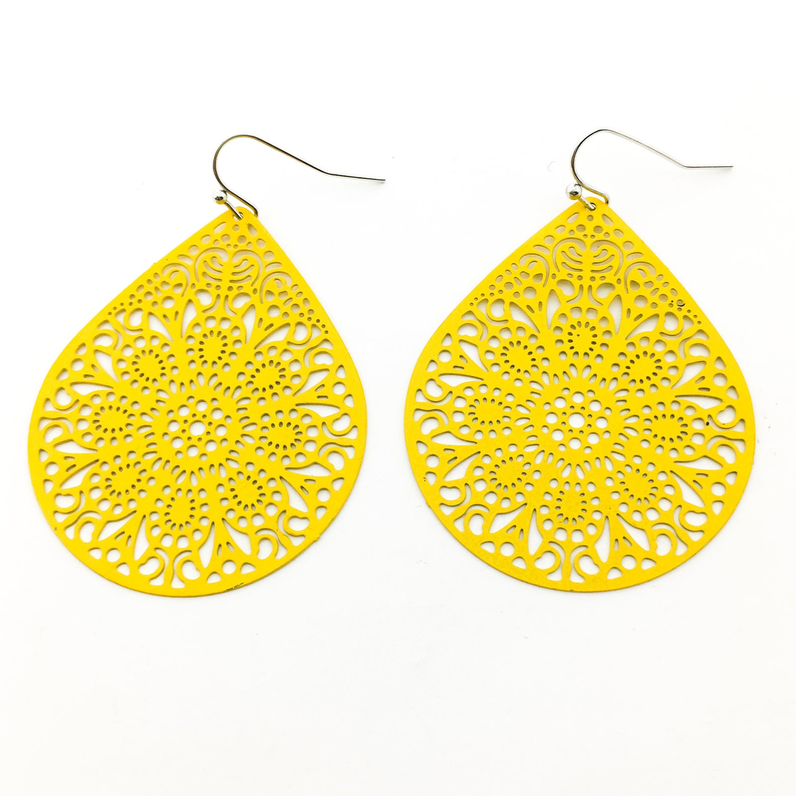 FLORAL DROP FILIGREE EARRINGS | LARGE | COLOR OPTIONS