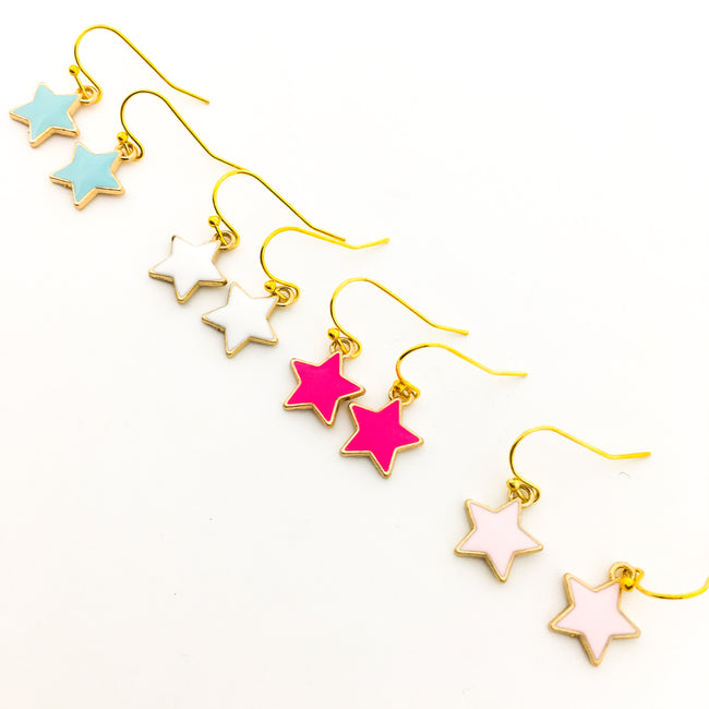 MINI COLORFUL STAR EARRINGS | GOLD | COLOR OPTIONS