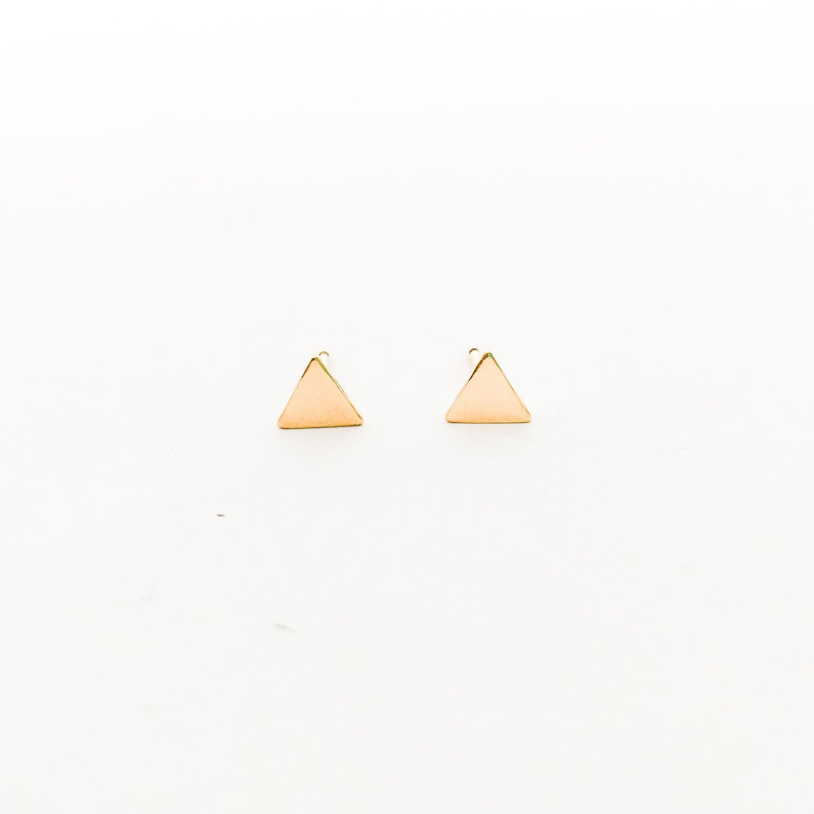 MINI TRIANGLE STUD EARRINGS | 14K GOLD-FILLED