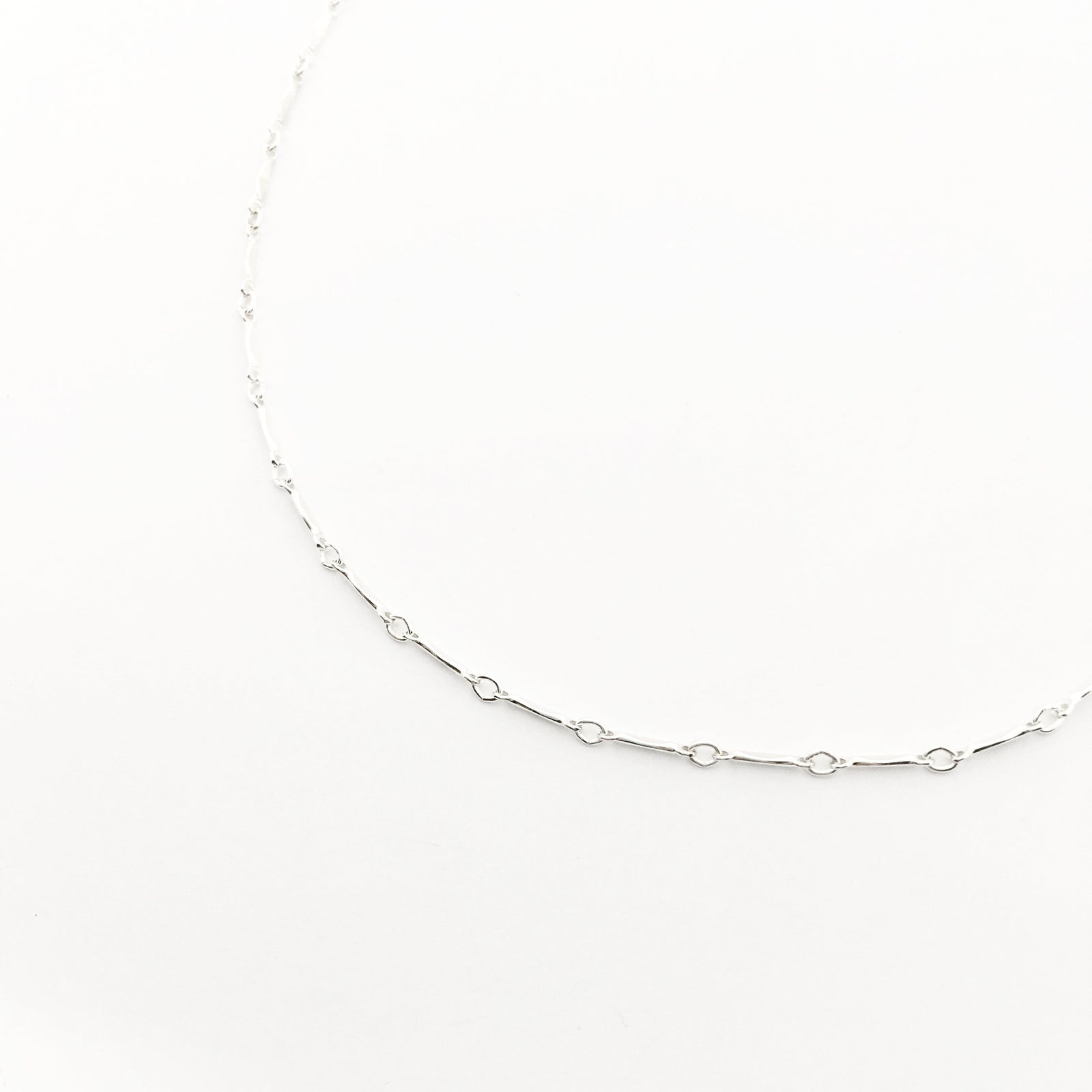 STERLING SILVER BAR CHAIN NECKLACE
