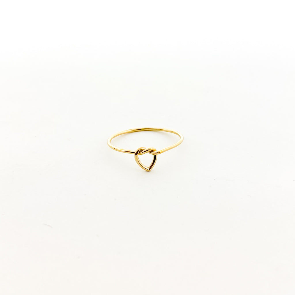 14K GOLD-FILLED HEART TIED RING | SIZE OPTIONS
