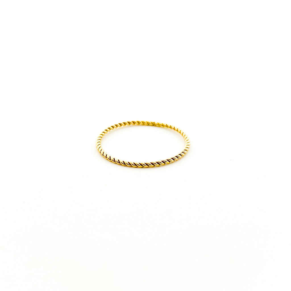 14K GOLD-FILLED TWISTED BRAID STACKING RING | SIZE OPTIONS