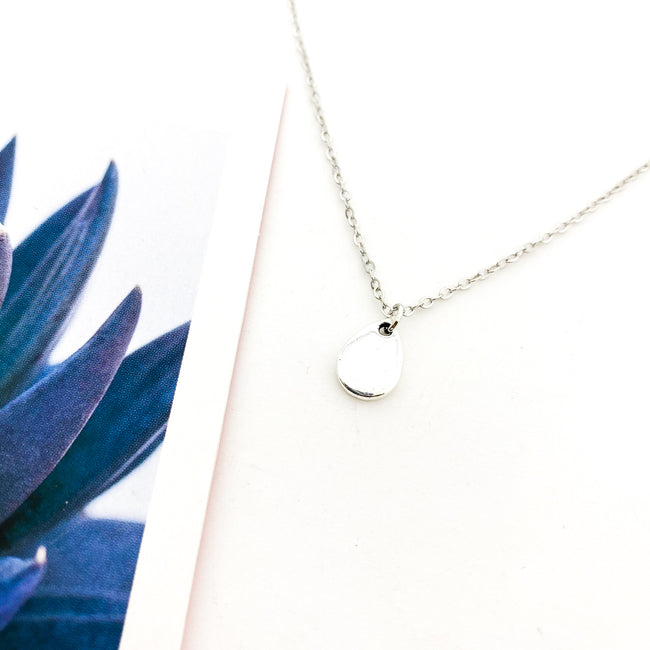 SMOOTH MINI DROP NECKLACE | SILVER