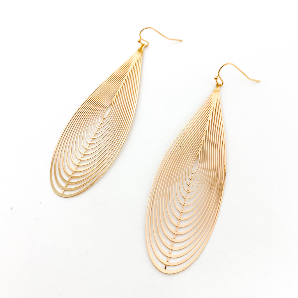 FILIGREE ORBIT DROP EARRINGS | SOFT GOLD | SIZE OPTIONS