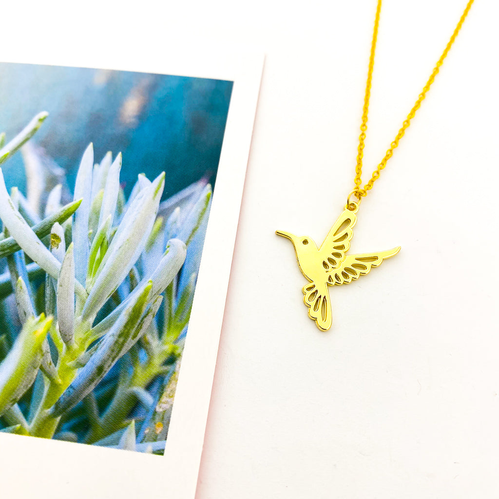 HUMMINGBIRD NECKLACE | GOLD