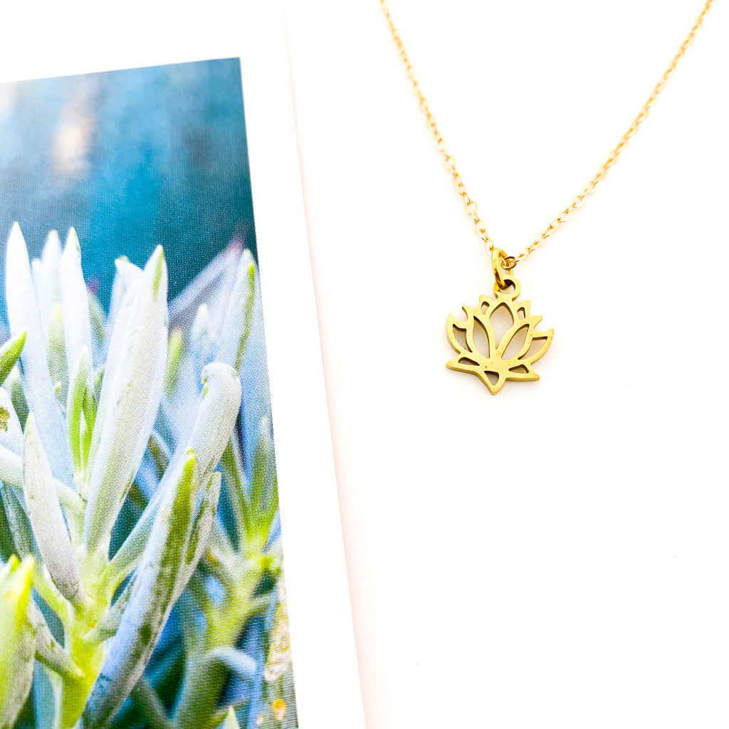 MINI LOTUS FLOWER NECKLACE | STYLE OPTIONS