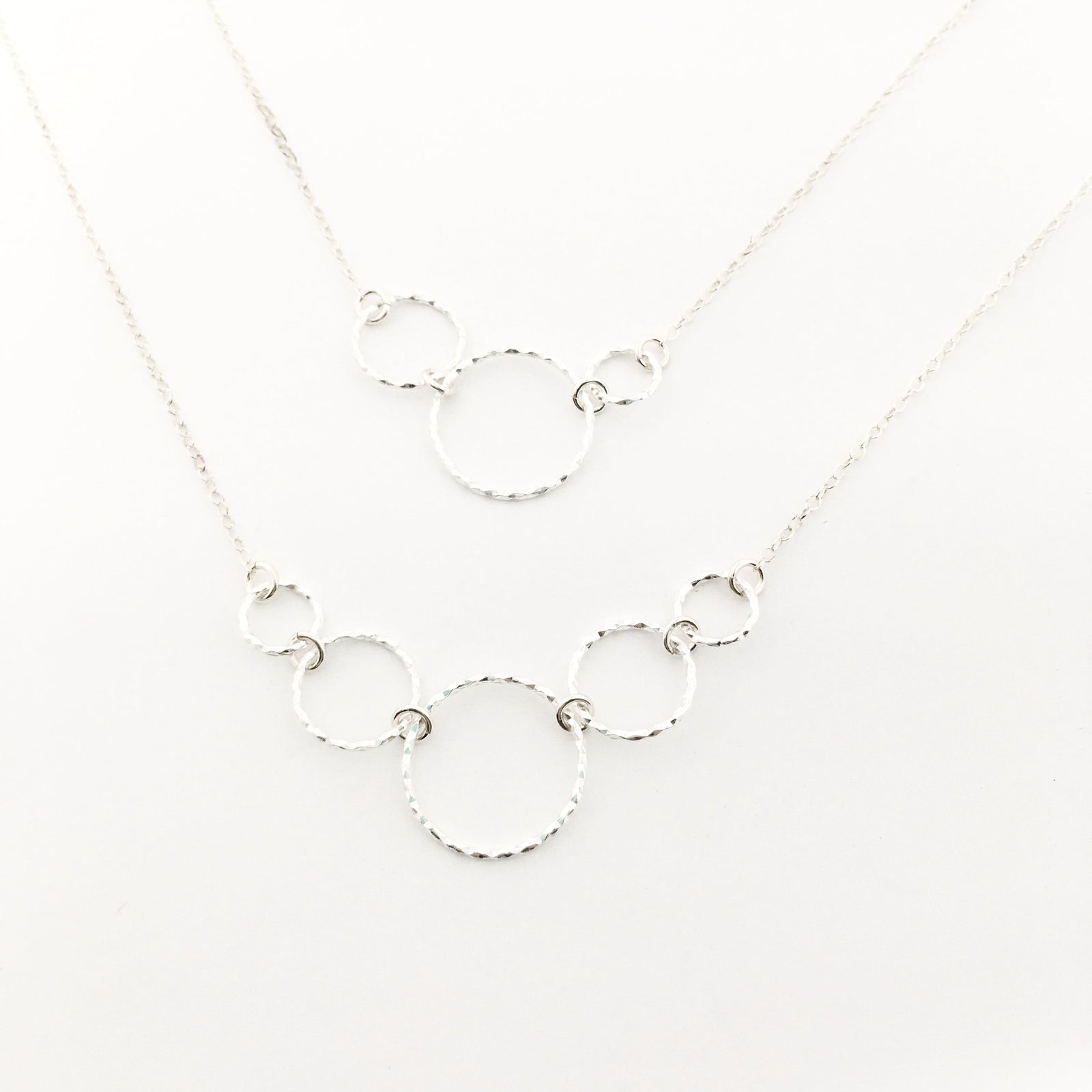 STERLING SILVER MULTI HOOP NECKLACES | SIZE OPTIONS