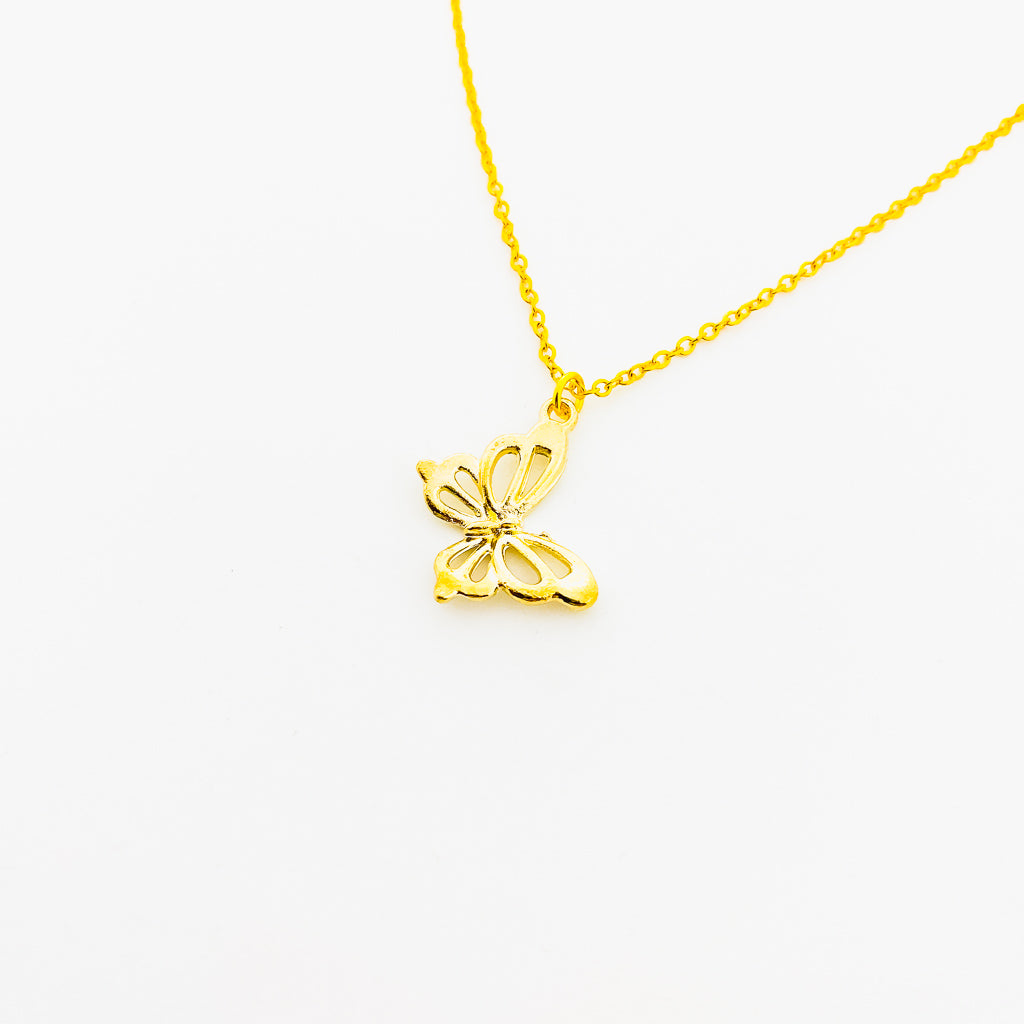 HANGING BUTTERFLY NECKLACE | GOLD