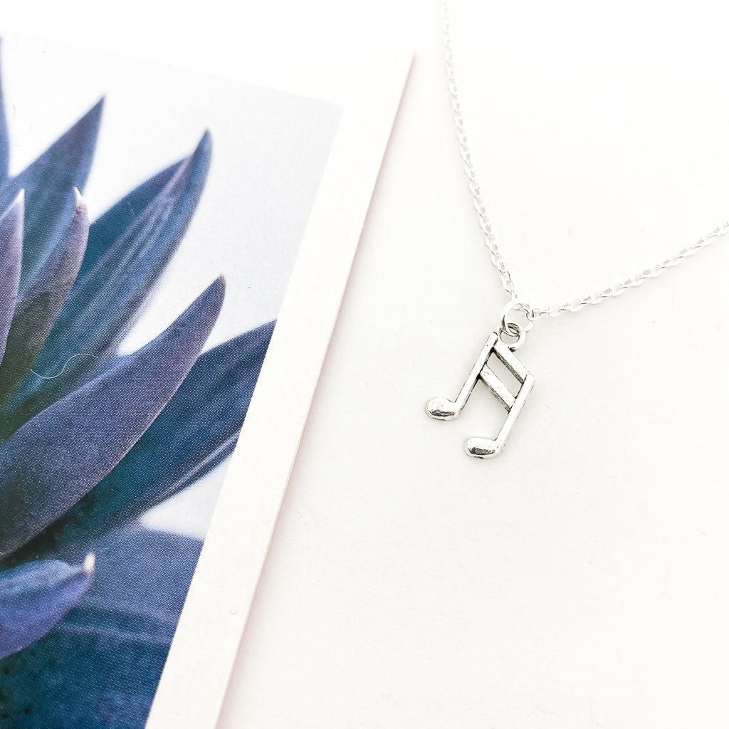 MUSIC NOTE NECKLACE | SILVER