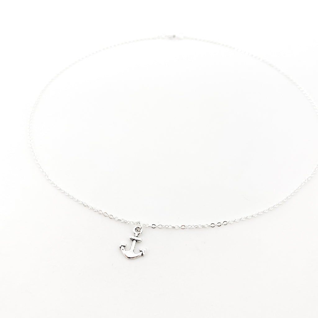 ANCHOR NECKLACE | SILVER