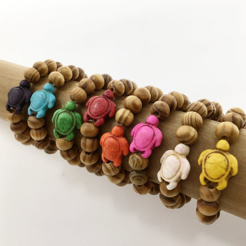 COFFEE DYED WOOD BRACELET | 10MM