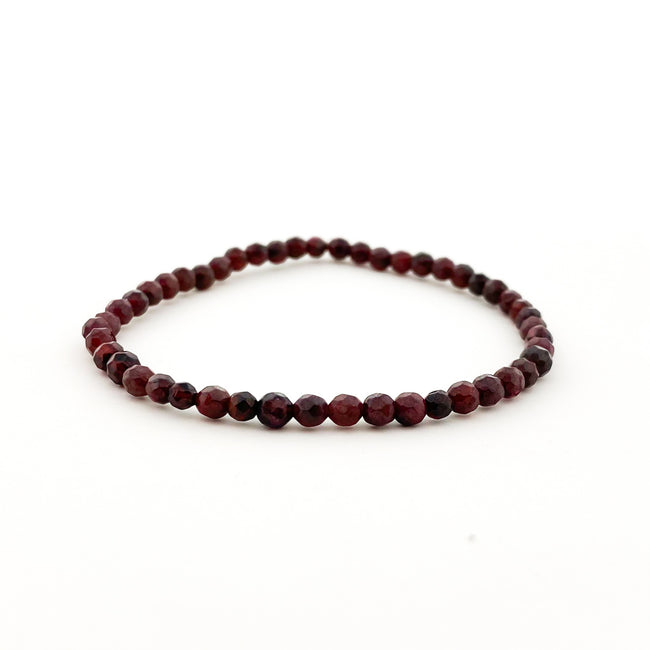 FACETED GARNET BRACELET | 4MM