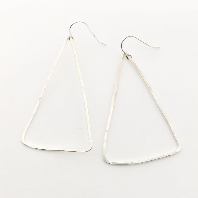 IMPRESSION TRIANGLE EARRINGS | STERLING SILVER