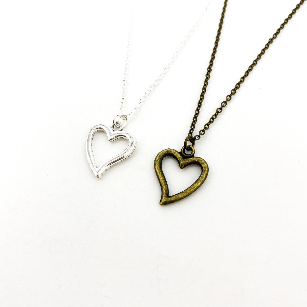 LITTLE OPEN HEART NECKLACES | STYLE OPTIONS