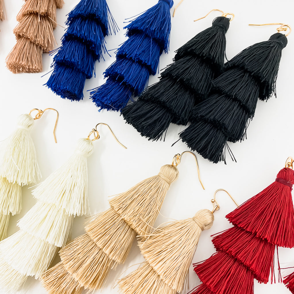 TASSEL TOWER EARRINGS | STYLE OPTIONS