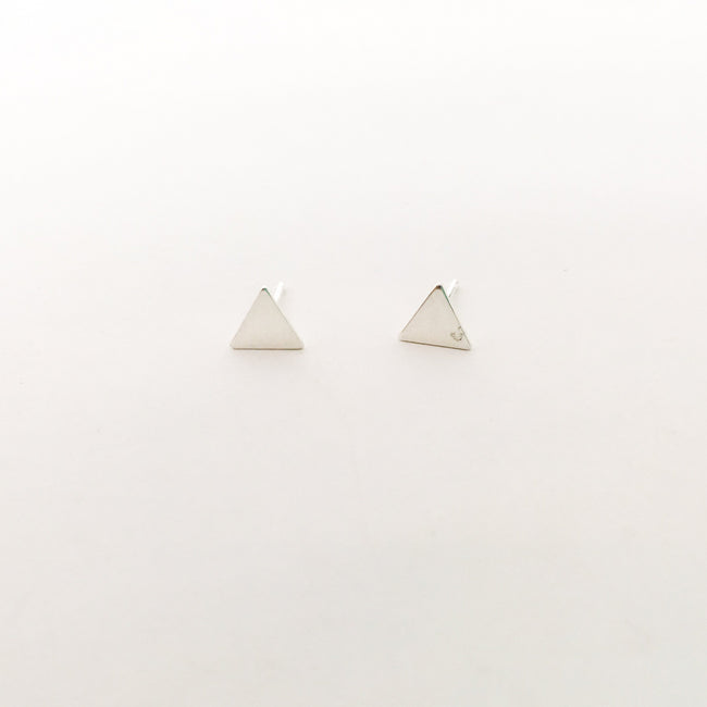 MINI TRIANGLE STUD EARRINGS | STERLING SILVER