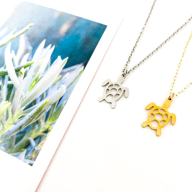 OPEN TURTLE NECKLACES | COLOR OPTIONS