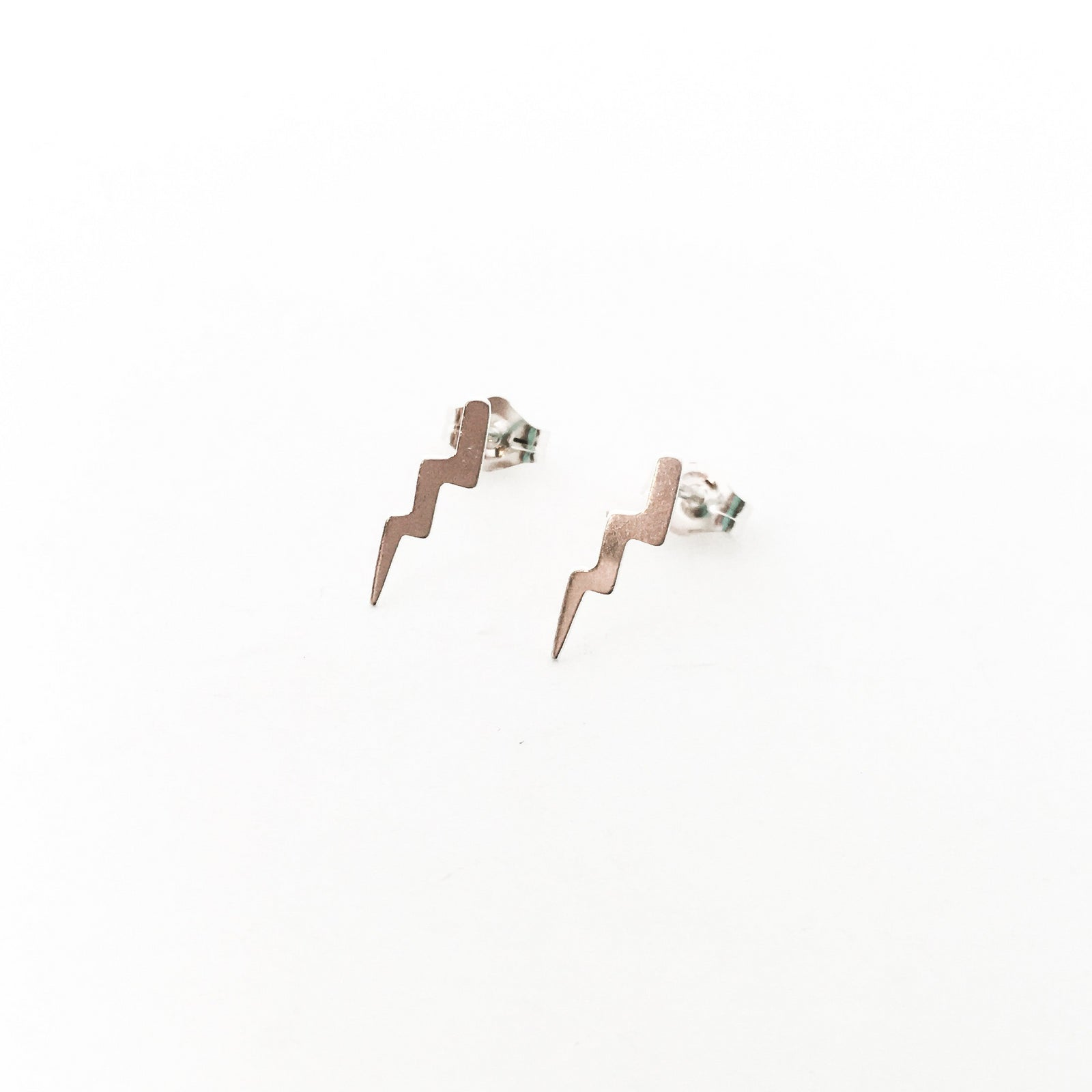 BOLT OF LIGHTNING STUD EARRINGS | STERLING SILVER