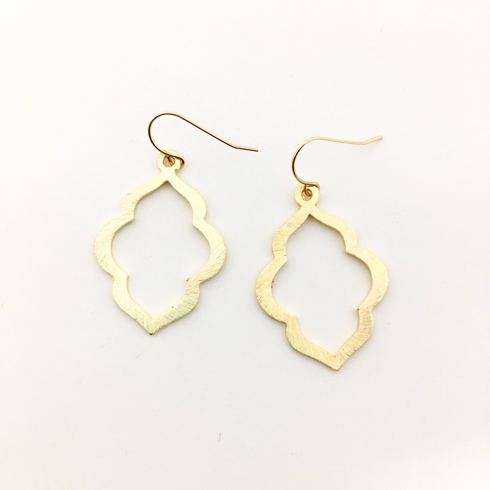 BRUSHED OGEE EARRINGS | 14K GOLD-FILLED | SIZE OPTIONS