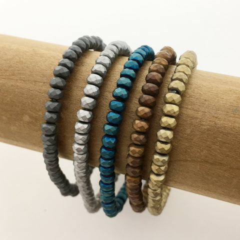STERLING SILVER BEADED BRACELETS | 3MM, 4MM, 5MM