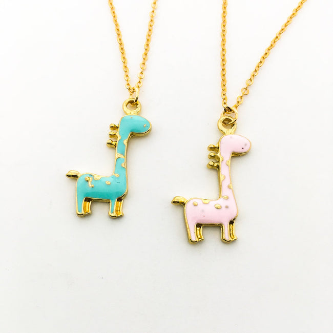 CUTE GIRAFFE NECKLACES | GOLD | COLOR OPTIONS